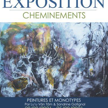 affiche de l'exposition cheminement